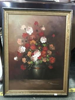 Sale 9106 - Lot 2055 - Artist Unknown - Still Life of Flowers , frame: 71 x 56 cm