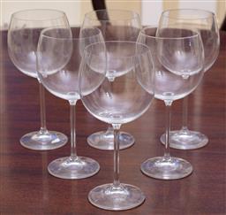 Sale 9190H - Lot 93 - A set of 6 large Boda crystal wine goblets