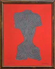 Sale 8316 - Lot 506 - Maximilian Feuerring (1896 - 1985) - Nude 35.5 x 28cm