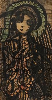 Sale 8738 - Lot 586 - Madge Gill (1882 - 1961) - Untitled 42 x 22cm
