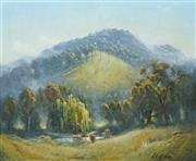 Sale 8713 - Lot 506 - Dixon Copes (1914 - 2002) - Autumn Morning at Stroud 49.5 x 59.5cm