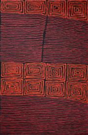Sale 8786 - Lot 565 - Ronnie Tjampitjinpa (c1943 - ) - Fire Dreaming 160 x 116cm