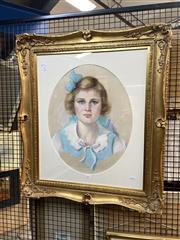 Sale 8895 - Lot 2065 - Artist Unknown - Portrait, 1936, pastel on paper, 82 x 70cm (frame), unsigned