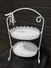 Sale 8962 - Lot 1043 - Metal 2 Tier Cake Stand (H: 48cm)