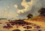 Sale 9001 - Lot 548 - Charles E. Astley (1869 - 1929) - Schnapper Rocks, Tweed Heads, 1914 33.5 x 49.5 cm (frame: 53 x 69 x 4 cm)