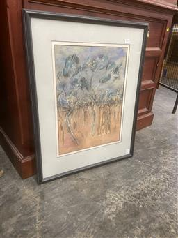 Sale 9106 - Lot 2052 - David Reid Down the Track, 1989, pastel, frame: 70 x 54 cm, signed and dated lower right -