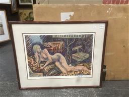 Sale 9111 - Lot 2095 - Sheryl Gully Nude screen print, ed. 7/10, frame: 61 x 77 cm, signed,