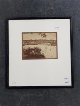 Sale 9127 - Lot 2077 - an early 20th century photograph of Clifton Gardens, Sydney, frame: 40 x 37 cm, -