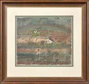 Sale 8286 - Lot 570 - John Olsen (1928 - ) - Untitled (Wetlands & Birds) 39.5 x 45.5cm