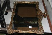 Sale 8381B - Lot 78 - Gilt Metal Framed Mirror (some losses to paintwork)