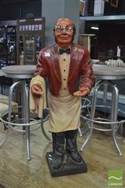 Sale 8390 - Lot 1433 - Composite Form Waiter Figure