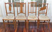 Sale 8470H - Lot 35 - Four sundry timber chairs each with tapestry upholstered seats