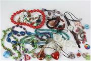 Sale 8521 - Lot 65 - Costume Jewellery inc Beaded Necklaces and Murano Glass Examples