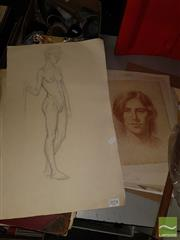 Sale 8544 - Lot 2078 - Collection of Old Figure Study Drawings