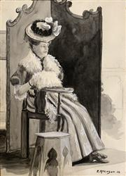 Sale 8659 - Lot 2098 - Collection of (14) Drawings and Watercolours by Ethel Atkinson (1887 - 1991) -