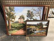 Sale 8784 - Lot 2089 - Group of (3) Country Scene Paintings by June Bunbury-Murray (framed/various sizes)