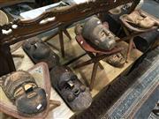 Sale 8851 - Lot 1084 - Set Of Five Tribal Masks