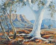 Sale 8881 - Lot 548 - Robert Johnson (1890 - 1964) - Ghost Gum, Mt Gillen, Alice Springs 44.5 x 54 cm