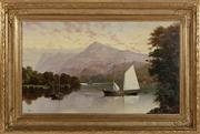 Sale 8908H - Lot 78 - JAMES HAUGHTON FORREST (1826-1925) Australia - Schooner Yacht Wanderer, Loche Erne, Ireland image size 44cm x 75cm in ornate gilt fr...