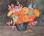 Sale 9055A - Lot 5011 - Ida Marion Kirkpatrick (1862-1930) - Floral Still Life 32.5 x 40 cm (frame: 53 x 60 x 2 cm)