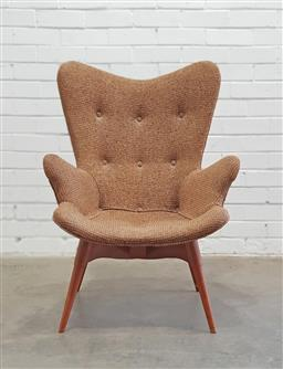 Sale 9134 - Lot 1049 - Original Grant Featherston R160 lounge chair with original purchase label from Grace Bros (h:93 x w:65 x d:50cm)