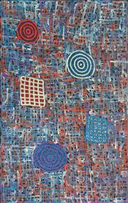 Sale 8325 - Lot 550 - Betty Mbitjana (1955 - ) - Bush Melon - Awelye 153 x 97cm