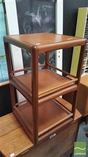 Sale 8383 - Lot 1005 - Rare Danish Teak Three Tier Revolving Bookcase