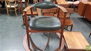 Sale 8409 - Lot 1018 - Early Australian Desk Chair with Wishbone Back