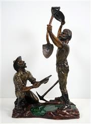 Sale 8427 - Lot 524 - Frank Miles (1946 - ) - Metcash 2013 - The Prospectors 65cm (h) 40cm (w) 24cm (d)
