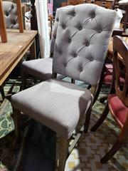 Sale 8760 - Lot 1096 - Set of 6 Fabric Dining Chairs
