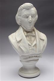 Sale 8698 - Lot 84 - Composite Bust Of Chopin