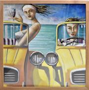 Sale 8778A - Lot 5056 - Patrick Cornee - 2 CV 80 x 84cm (frame)