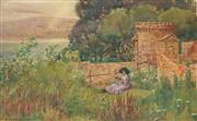 Sale 8867A - Lot 5015 - John Samuel Watkins (1866 - 1942) - Powder Magazine, End of Barracks, Sydney Harbour 27 x 44 cm