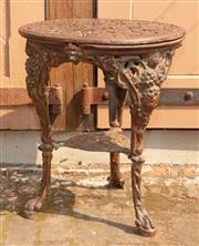 Sale 8871H - Lot 66 - Cast iron side table. Height 70cm, Width 59cm