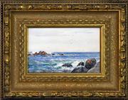 Sale 8316 - Lot 581 - Will Ashton (1881 - 1963) - Coastal Rocks, 1905 15 x 24.5cm