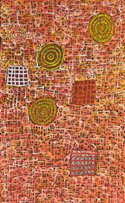 Sale 8321 - Lot 535 - Betty Mbitjana (1955 - ) - Bush Melon - Awelye 153 x 95cm