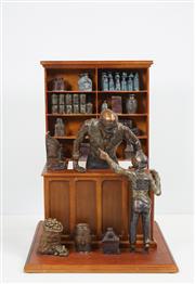 Sale 8427 - Lot 525 - Frank Miles (1946 - ) - Metcash 2012 - The Storekeeper 57cm (h) 43cm (w) 43cm (d)