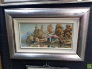 Sale 8619 - Lot 2017 - William Golding - Grays point, 1975 19 x 39cm