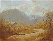 Sale 8730 - Lot 2012 - Dixon Copes (1914 - 2002) - Country Track 30.5 x 38cm