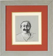 Sale 8789 - Lot 2016 - Gunter Christmann (1936 - 2013) - Untitled (Portrait of a Man) 24 x 21 cm