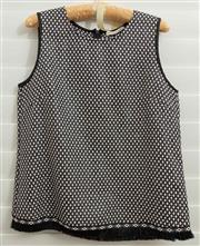 Sale 8902H - Lot 167 - A Hunter & Alexandra sleeveless top in black and white check, size M