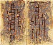 Sale 8929 - Lot 541 - David Rankin (1946 - ) - Blazing Ladder I, 2001 136.5 x 81cm, each