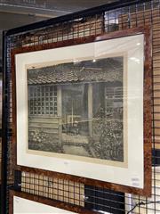 Sale 8936 - Lot 2014 - Terence Millington (1942 - ) Backyard Shed aquatint, ed 19/75, 37 x 42.5cm , signed -
