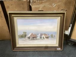 Sale 9106 - Lot 2067 - Leonie Lyall Downtown, oil on canvas on board, frame: 60 x 80 cm, signed lower right