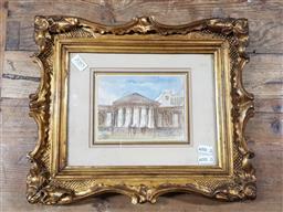 Sale 9127 - Lot 2085 - L. J. Wood Opera Square watercolour, frame: 29 x 34 cm, unsigned, inscribed verso -