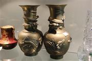 Sale 8324 - Lot 81 - Bronze Pair of Dragon Vases