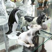 Sale 8336 - Lot 67 - Beswick Dog Figure with a Bing & Grøndahl Figure (AF) & an Art Glass Penguin