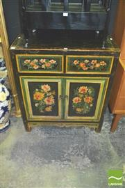 Sale 8371 - Lot 1010 - Oriental Cabinet with 2 Doors and 2 Drawers
