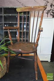 Sale 8390 - Lot 1329 - Antique Elm & Beech Windsor Armchair