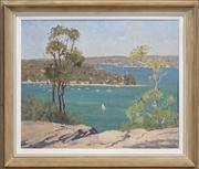 Sale 8420 - Lot 560 - Henry Hanke (1901 - 1989) - View of Sydney Bay 44.5 x 54.5cm